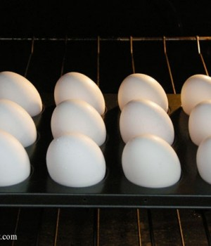 how to make baked hard boiled eggs | onelittleproject.com