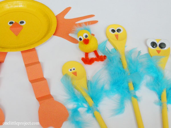 Baby chick Easter craft ideas for kids