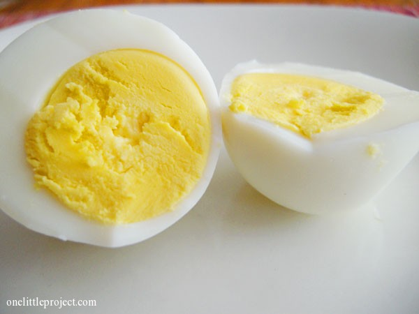 baked hardboiled eggs | onelittleproject.com