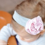 Fabric flower headband tutorial #1
