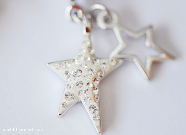 Swarovski stars charm