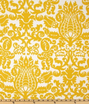 Curtains: Premier Prints Amsterdam Corn Yellow