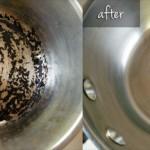 Easiest way to clean burnt pots