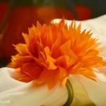 How to make tissue paper flowers for napkin rings