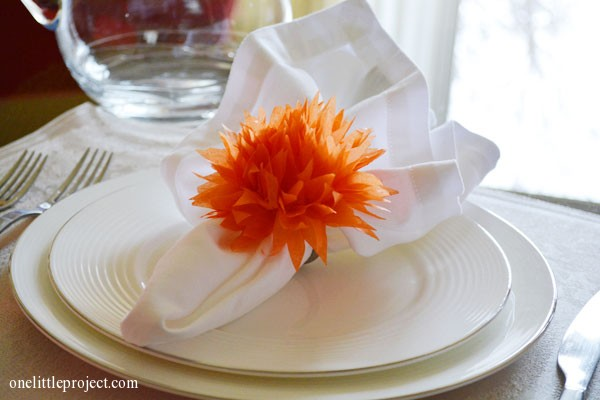 How to make tissue paper flowers | onelittleproject.com