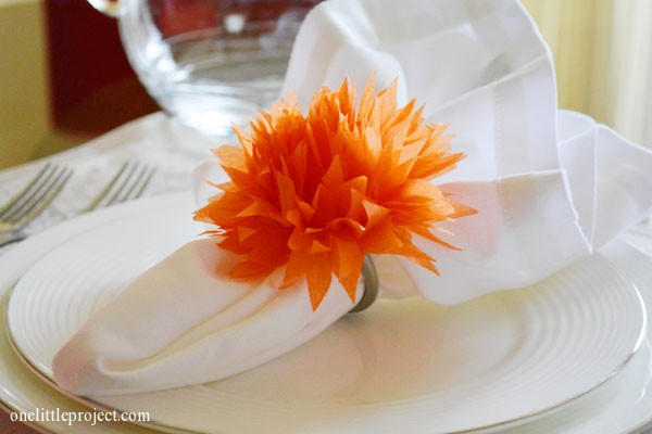 Simple tutorial for how to make tissue paper flowers how to make tissue paper flowers for napkin rings mightylinksfo Gallery