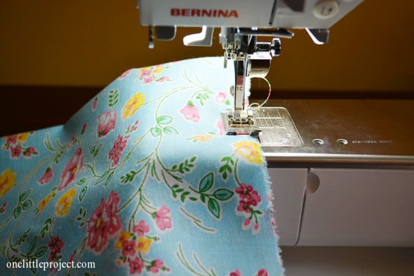 sew two ends of the mattress cover