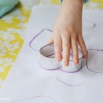 Easy cookie cutter painting craft for preschoolers