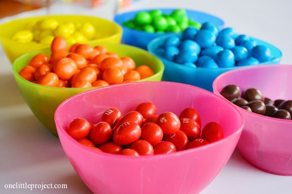 bowls of M&M's