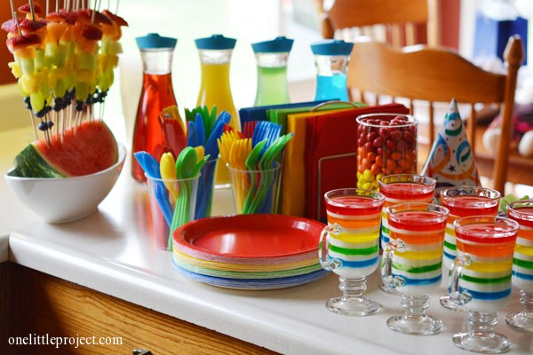Rainbow birthday party ideas | onelittleproject.com