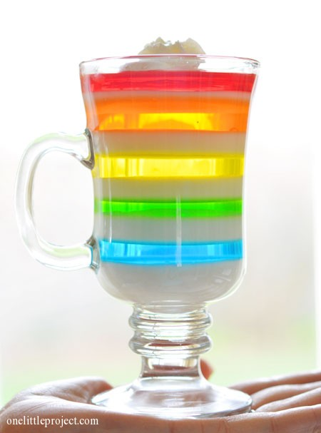 Rainbow Jello Recipe makes a Gorgeous Dessert