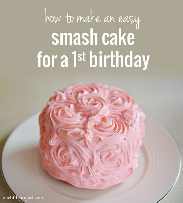 Cool How To Make A Smash Cake For A First Birthday Funny Birthday Cards Online Elaedamsfinfo