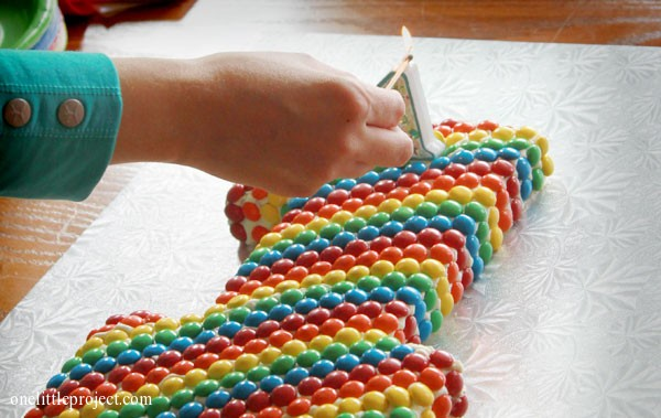 Rainbow MM's first birthday cake