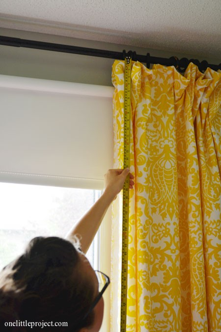 How to make blackout curtains tutorial. Step by step instructions with tons of photos!  onelittleproject.com