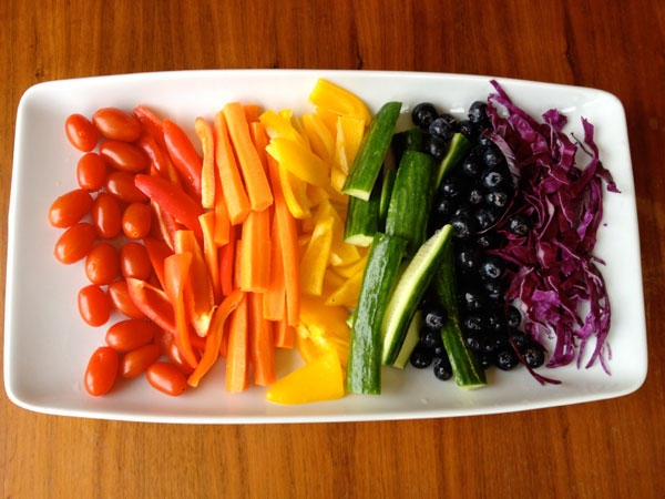 Rainbow Veggie Tray Ideas