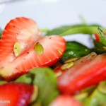 Strawberry spinach salad, a quick and easy summer salad recipe