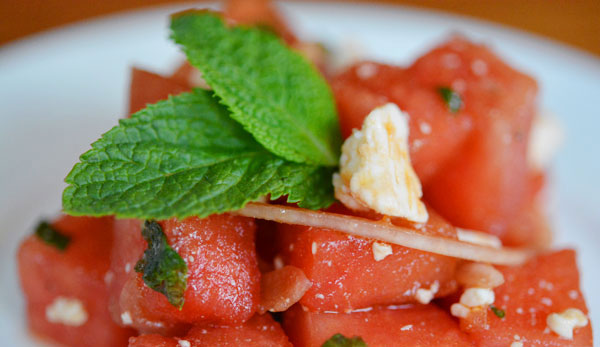 Watermelon Salad With Feta Or Cotija Recipes — Dishmaps