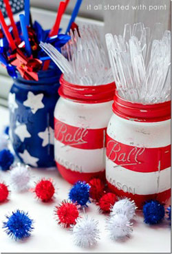 fourth of july mason jars