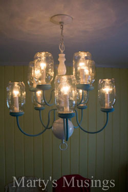DIY mason jar chandelier