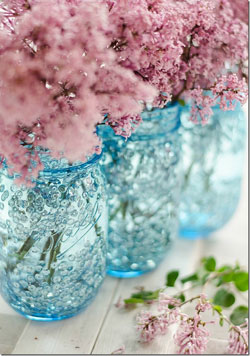 sequin blue mason jar