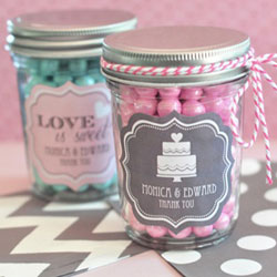 wedding favour mason jars