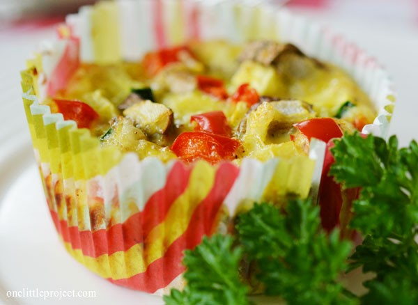 Eggs in a muffin tin, an easy breakfast idea