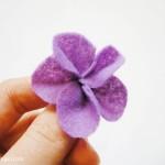 Simple Felt Flower Tutorial #3