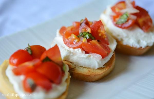 Whipped Feta Crostini Recipe - an amazing appetizer!