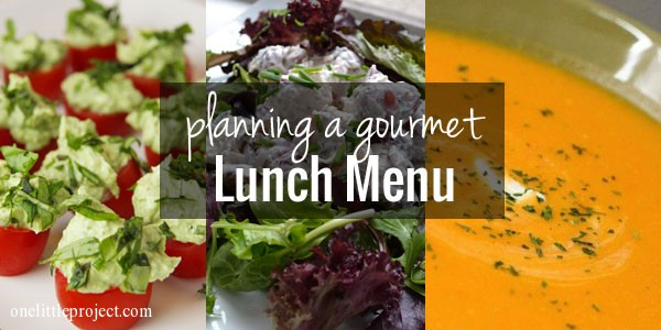 Tips for planning a gourmet lunch menu