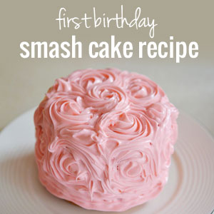 How to make an easy smash cake for a 1st birthday | onelittleproject.com