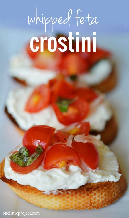Whipped Feta Crostini Recipe - an amazing appetizer idea!
