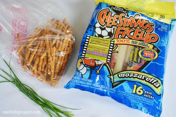 Halloween Treat: Cheese and Pretzel Broomsticks