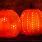 Halloween ideas – Easy drilled pumpkins tutorial
