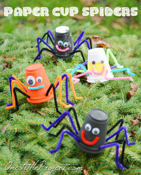40+ Awesome Pipe Cleaner Crafts - Styrofoam Spiders