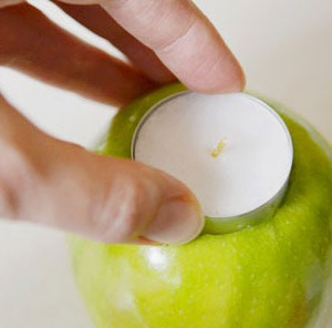 Fresh Apple Tea Lights – An apple candle holder tutorial