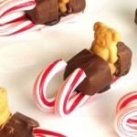 Candy Cane Sleds with Teddy Grahams