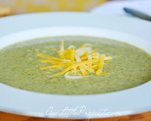 Cream of Broccoli Soup - A delicious and healthy recipe