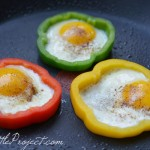 Make eggs in bell pepper rings