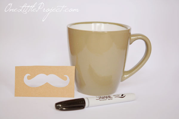 These DIY Sharpie mustache mugs make such a cute gift idea for a dad, husband or even a grandpa!  And they are so easy to make!