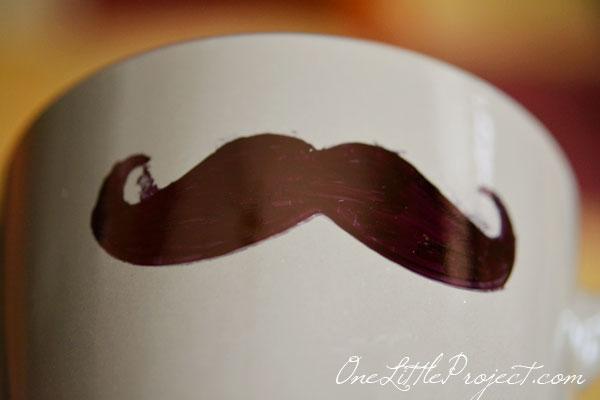 DIY Sharpie Mustache Mugs Tutorial