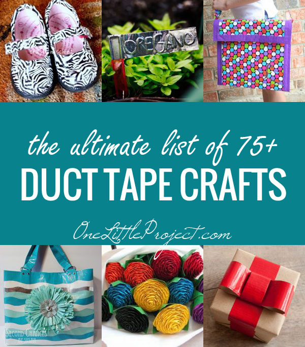 The Ultimate List of Duct Tape Crafts, 75+ Amazing Ideas. Pretty much anything you could ever think of out of duct tape!