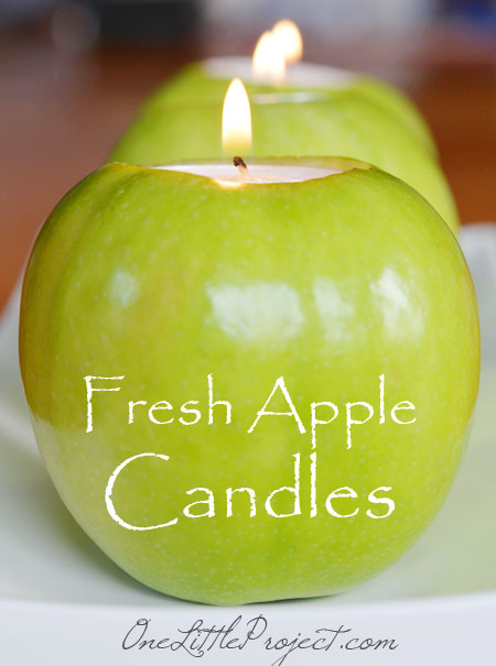 Here's an easy tutorial with loads of pictures for how to make apple tea lights.These are such a gorgeous idea to decorate an autumn table!