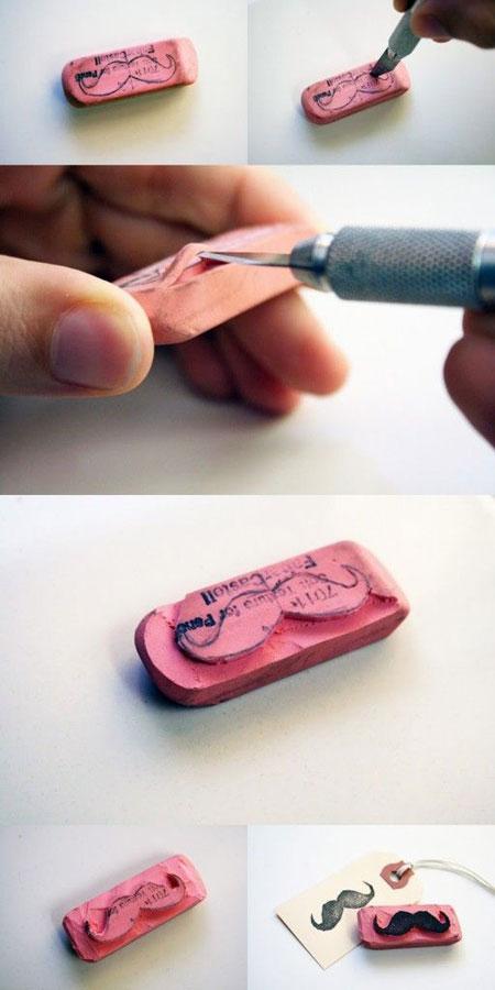 DIY Mustache Stamp