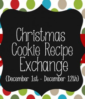 2013 Christmas Cookie Recipe Exchange