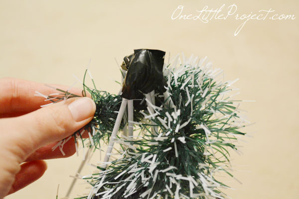 DIY Wire Hanger Christmas Tree Tutorial - So easy and resourceful to use wire hangers to make the tree forms!