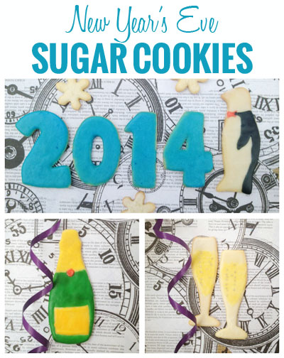 3 Fun and Inexpensive New Years Activities - #1 New Year's Eve Sugar Cookies