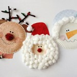 Paper Plate Christmas Crafts – Rudolph, Santa and Frosty