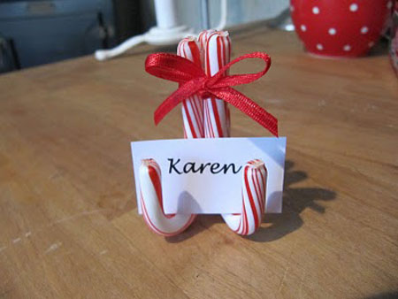Holiday Place Card Holder