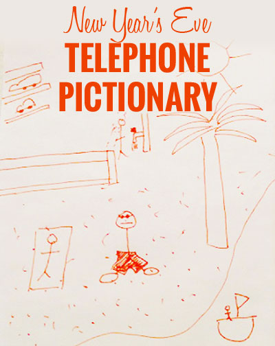 3 Fun and Inexpensive New Years Activities - #3 Play telephone pictionary with new year's resolutions.