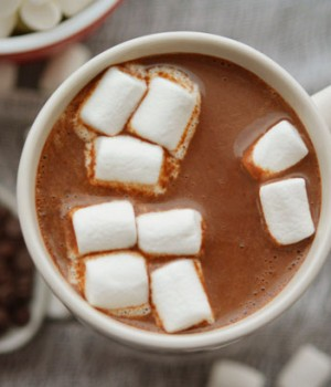 Homemade hot chocolate, only 3 ingredients